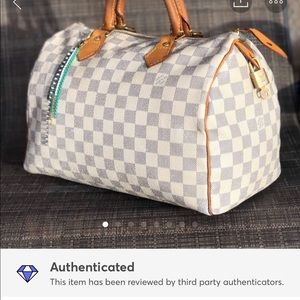 💕Louis Vuitton Azur Damier Speedy 30👜🎀